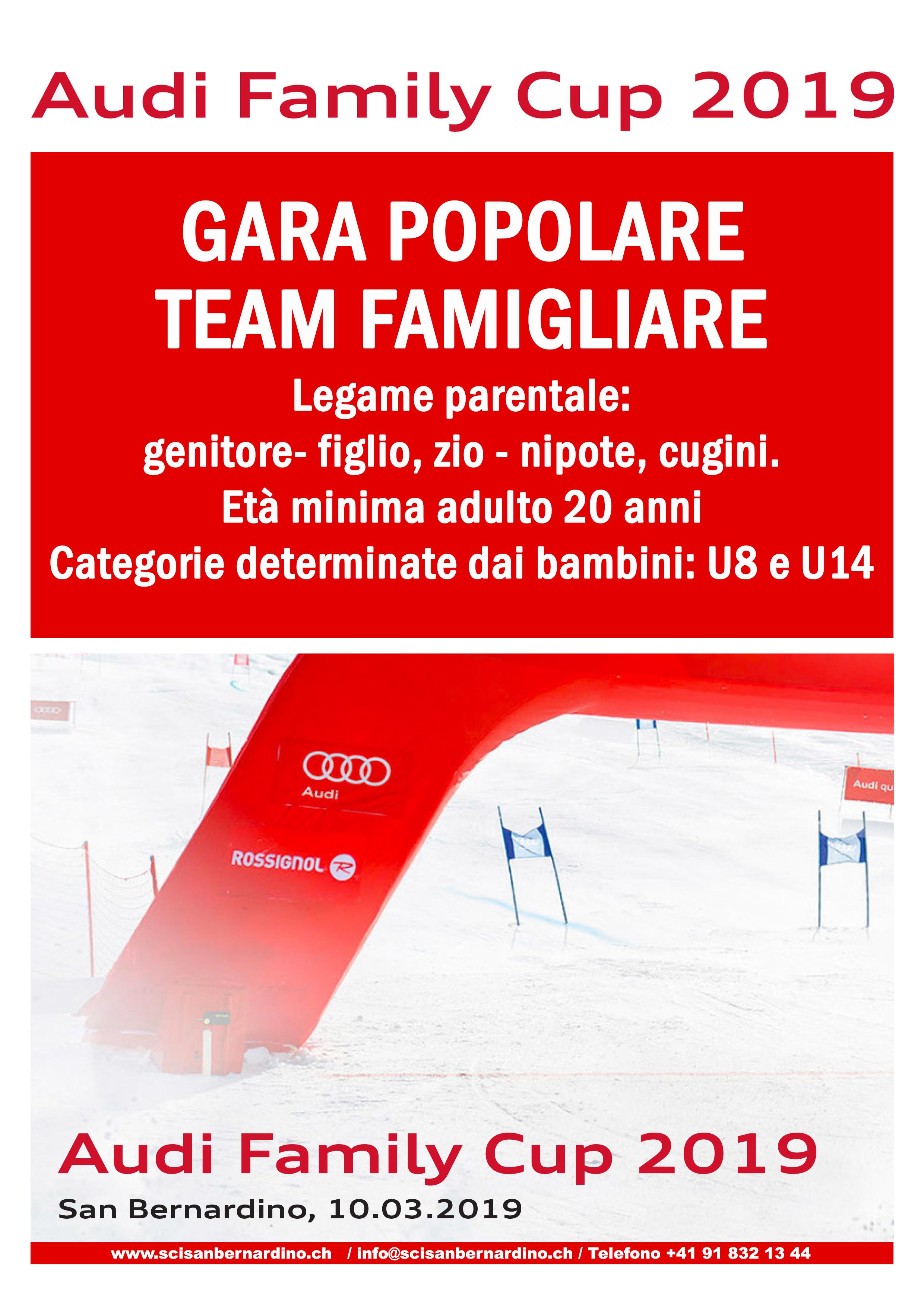 10.03.2019 Audi Family Cup 2019 / Gara popolare team famigliare
