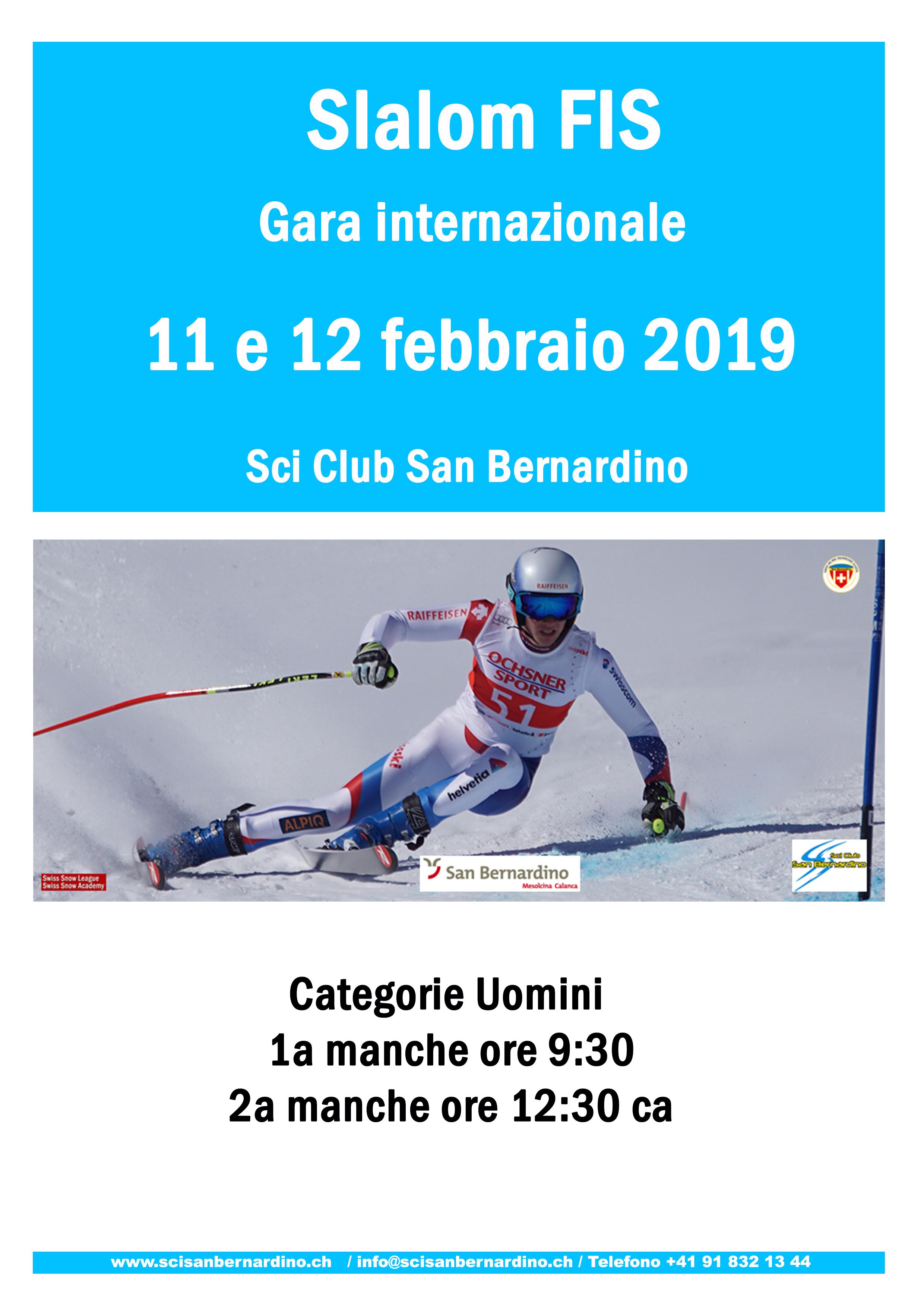 11 e 12.02.2019 Slalom FIS – Gara internazionale